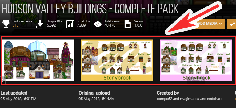Hudson Valley Buildings- Complete Packのデザインの確認