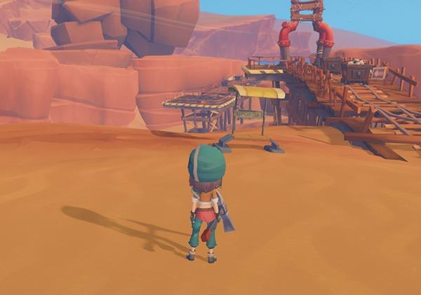 砂漠の廃遺跡 ディーディーストップ