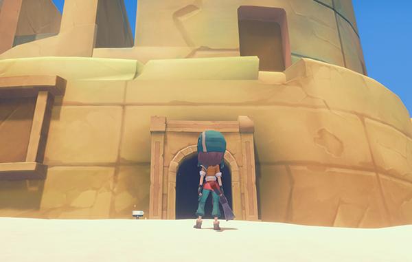 砂漠の廃遺跡