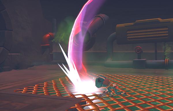 ローグナイトの剣の斬撃