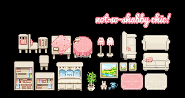 淡色の可愛い家具の見た目変更MOD「(CF) and (CP) Barfyscorpion Home Decor」 MOD Stardew Valley