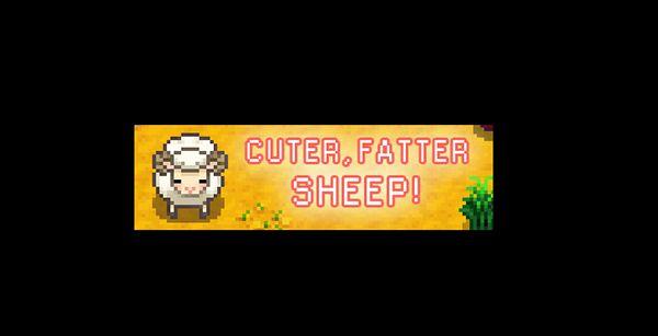 ヒツジがぽっちゃりで可愛くなるMOD「Cuter Fatter Sheep」 MOD Stardew Valley
