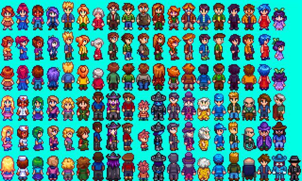 ガニ股矯正MOD「Slightly Cuter Character Sprites」 MOD Stardew Valley