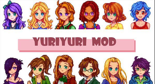 住人を女性キャラに変更するMOD「Yuriyuri MOD」 MOD Stardew Valley