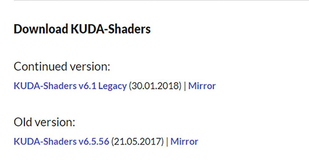 KUDA Sheadersのダウンロード
