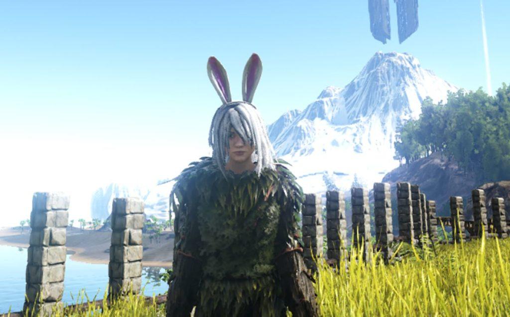 ウサギの付け耳スキン