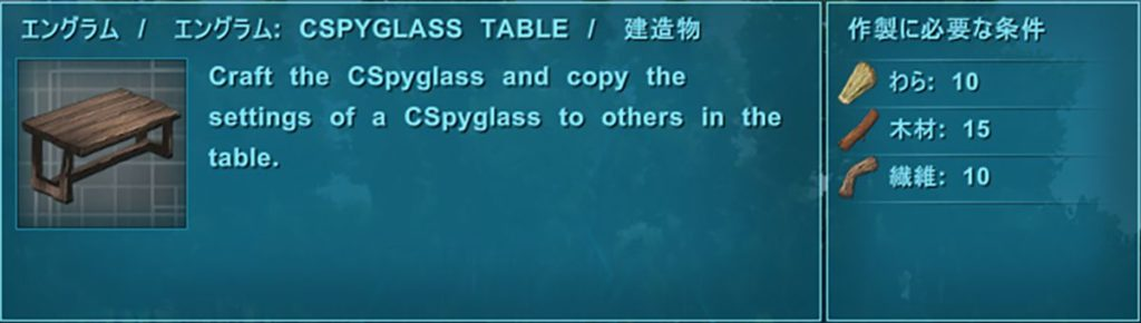 SPYGLASS TABLE