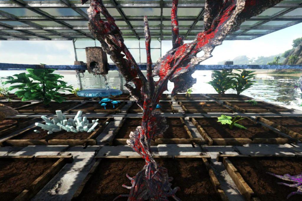 赤の樹液結晶