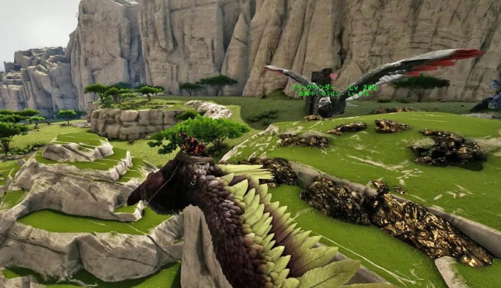 テイム済の恐竜への命令(追尾)